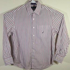 Nautica Mens Long Sleeve Striped Shirt